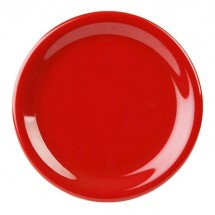"Thunder Group CR107PR Pure Red Round Narrow Rim Plate 7-1/4"" - 1 doz"