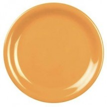 "Thunder Group CR107YW Yellow Melamine Narrow Rim Round Plate 7-1/4""  - 1 doz"