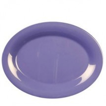 "Thunder Group CR212BU Purple Melamine Oval Platter 12"" x 9"" - 1 doz"
