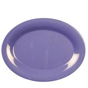 "Thunder Group CR213BU Purple Melamine Oval Platter 13-1/2"" x 10-1/2"" - 1 doz"