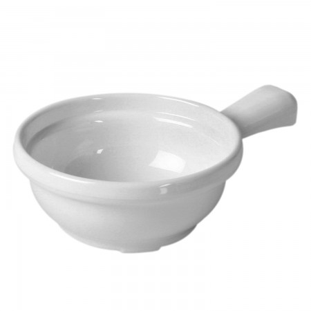 Thunder Group CR305W White Melamine Soup Bowl with Handle 10 oz. - 1 doz.