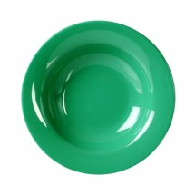 Thunder Group CR5077GR Green Melamine Wide Rim Salad Bowl 8 oz. - 1 doz.