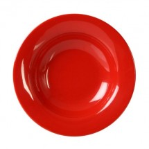 Thunder Group CR5077PR Pure Red Melamine Wide Rim Salad Bow 8 oz. - 1 doz