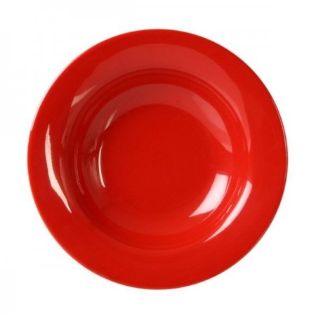 Thunder Group CR5077PR Pure Red Melamine Wide Rim Salad Bowl 8 oz. - 1 doz.