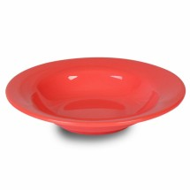 Thunder Group CR5077RD Orange Wide Rim Salad Bowl 8 oz. - 1 doz