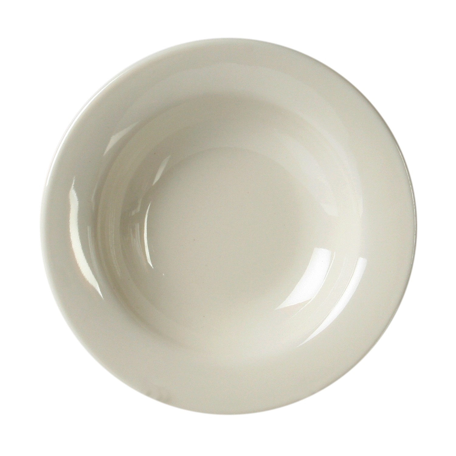 Thunder Group CR5077V Ivory Melamine Wide Rim Salad Bowl 8 oz. - 1 doz