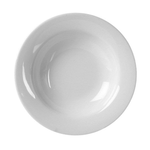 Thunder Group CR5077W White Melamine Wide Rim Salad Bowl 8 oz. - 1 doz