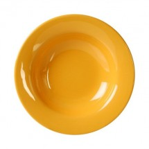 Thunder Group CR5077YW Yellow Wide Rim Melamine Salad Bowl 8 oz. - 1 doz.
