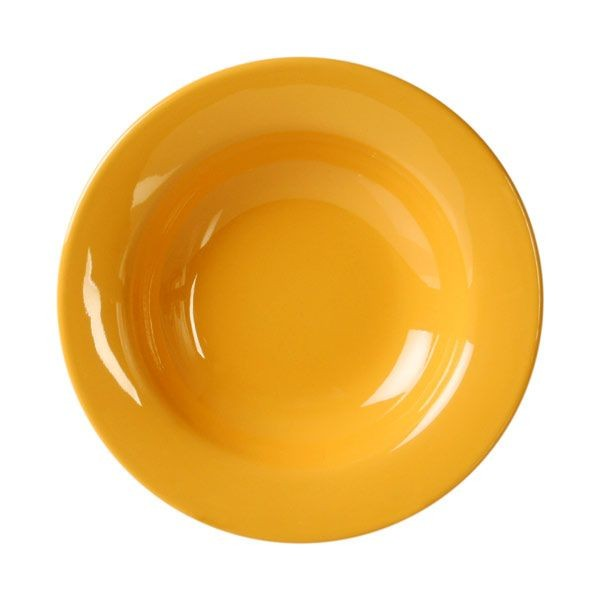 "Thunder Group CR5077YW Yellow Wide Rim Salad Bowl 8 oz., 7 3/4""  - 1 doz"