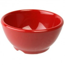 Thunder Group CR5804PR Pure Red Melamine Soup Bowl 10 oz. - 1 doz.