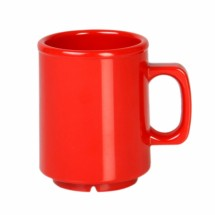 Thunder Group CR9010PR Pure Red Melamine Mug 8 oz. - 1 doz
