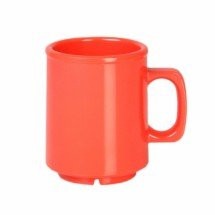 Thunder Group CR9010RD Orange Melamine Mug 8 oz. - 1 doz