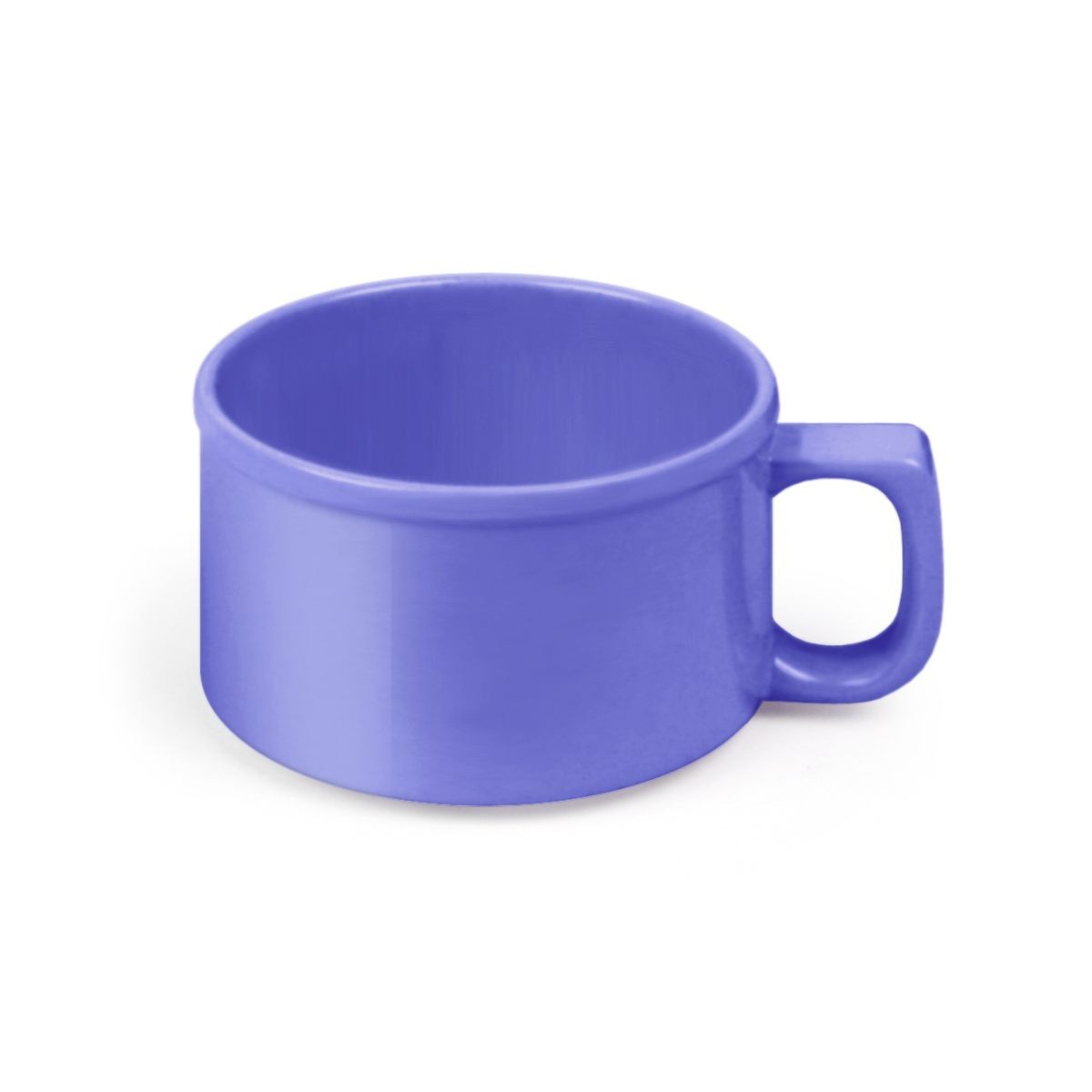 Thunder Group CR9016BU Purple Melamine Soup Mug 10 oz. - 1 doz
