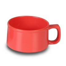 Thunder Group CR9016RD Orange Melamine Soup Mug 10 oz. - 1 doz