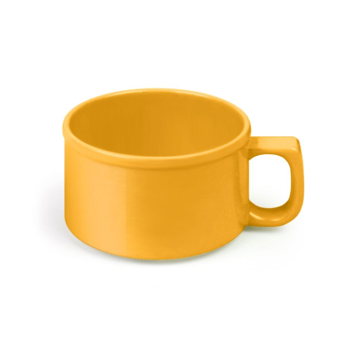 Thunder Group CR9016YW Yellow Melamine Soup Mug 10 oz. - 1 doz