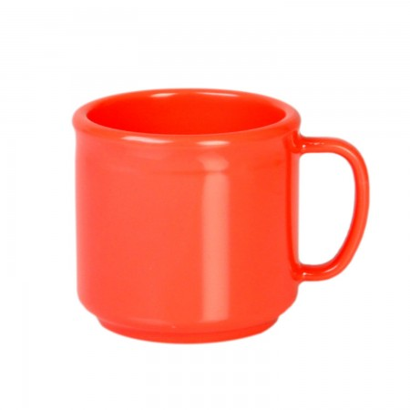 Thunder Group CR9035RD Orange Melamine Mug 10 oz. - 1 doz