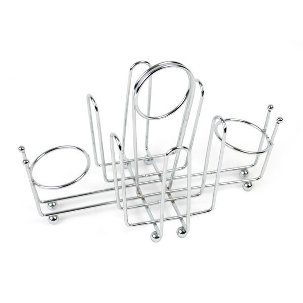 Thunder Group CRSP956 Wire Chrome-Plated Salt and Pepper / Sugar Packet Holder - 1 doz