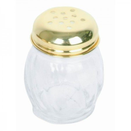 Thunder Group GLTWCS206P Gold Perforated Cheese Shaker 6 oz. - 1 doz