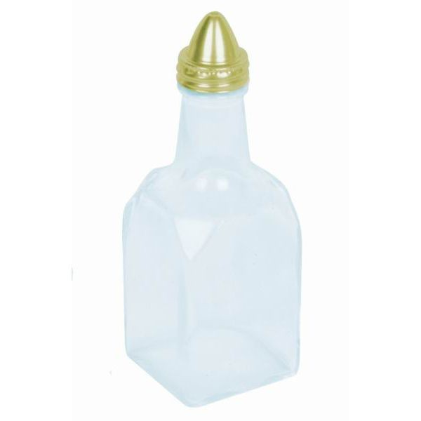 Thunder Group GLTWOC206 Gold Top Oil and Vinegar Cruet 6 oz. - 1 doz