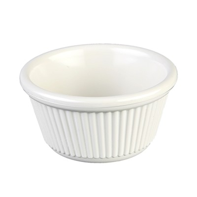 Thunder Group ML532B Fluted Ramekin, Bone 4 oz. - 1 doz