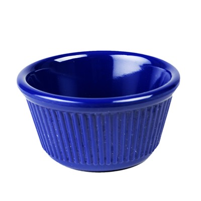 Thunder Group ML532CB Fluted Ramekin, Cobalt Blue 4 oz. - 4 doz