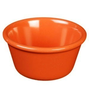 Thunder Group ML536RD Red Smooth Ramekin 2.5 oz. - 4 doz