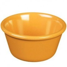 Thunder Group ML536YW Yellow 2.5 oz. Smooth Ramekin - 4 doz