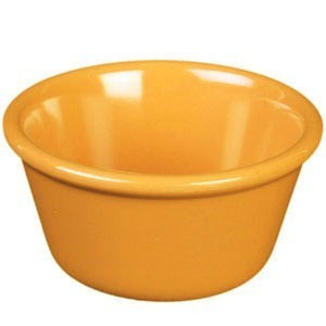 Thunder Group ML536YW Yellow Smooth Ramekin 2.5 oz. - 4 doz