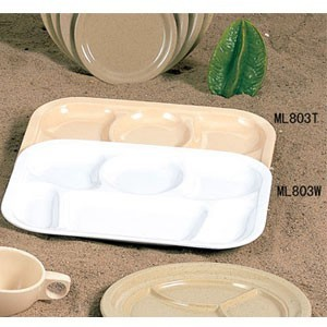 "Thunder Group ML803 Melamine Compartment Tray 13"" x 9-1/2"" - 1 doz"