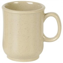 Thunder Group ML901S Nustone Sand Bulbous Mug 8 oz. - 1 doz