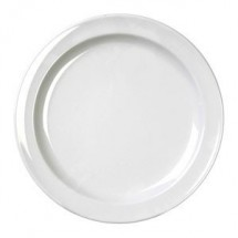 "Thunder Group NS108W White Round Nustone Dinner Plate 8"" - 1 doz"