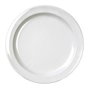 "Thunder Group NS109W White Round Nustone Dinner Plate 9"" - 1 doz"