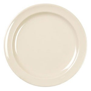 "Thunder Group NS110 Nustone Narrow Rim Melamine Plate 10-1/4"" - 1 doz."