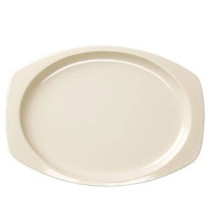 "Thunder Group NS212 Nustone Melamine Rectangular Platter 12-1/2"" x 9"" - 1 doz."