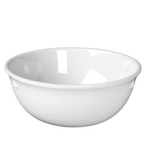 Thunder Group NS315W Nustone White Melamine Nappie 15 oz.- 1 doz.