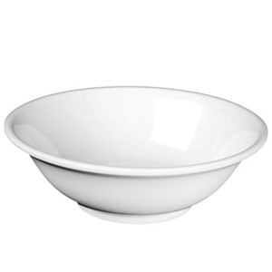 Thunder Group NS5060W White Nustone Rimless Bowl 22 oz. - 1 doz