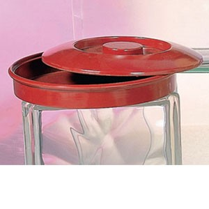Thunder Group NS608CR Red Nustone Tortilla Divided Server Lid - 1 doz