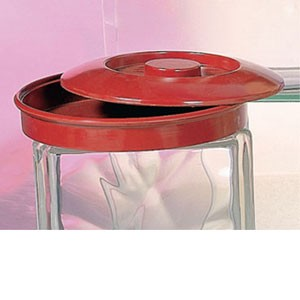 Thunder Group NS608R Red Nustone Tortilla Server with Lid - 1 doz