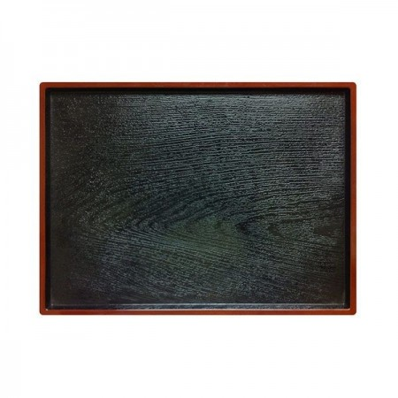 """Thunder Group PLA013 Rectangular Lacquered Obon Serving Tray 12"""" x 9-1/2"""" - 1 doz"""