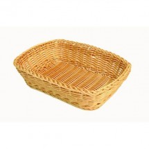 "Thunder Group PLBB1209 Rectangular Plastic Hand-Woven Basket 12"" x 9"""