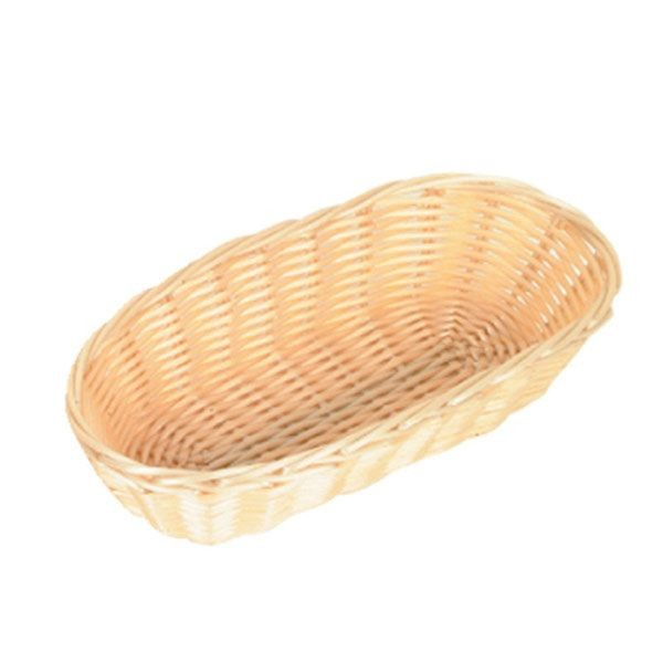 "Thunder Group PLBB850 Oblong Plastic Basket 8-1/2"" x 4-1/2"" - 1 doz"