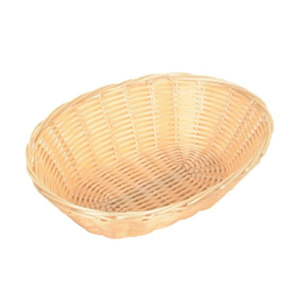 "Thunder Group PLBB900 Oval Plastic Basket 9"" x 7"" - 1 doz"