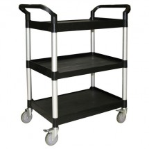 Thunder Group PLBC3316B Black 3-Tier Bus Cart 33-1/2