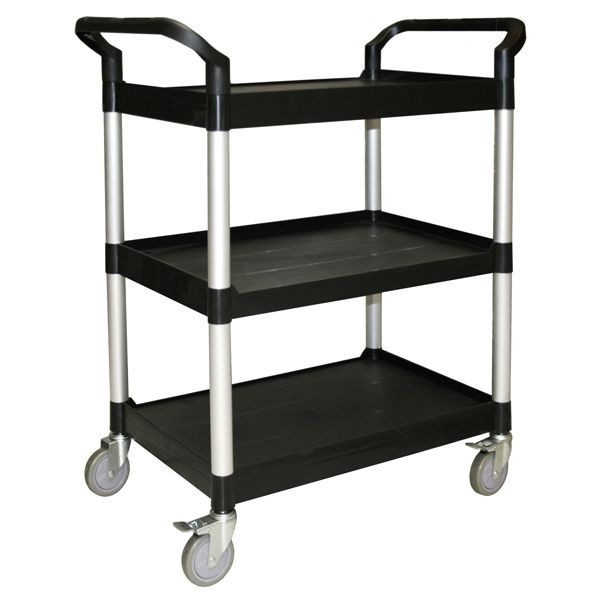 Thunder Group PLBC3316B Black 3-Tier Bus Cart