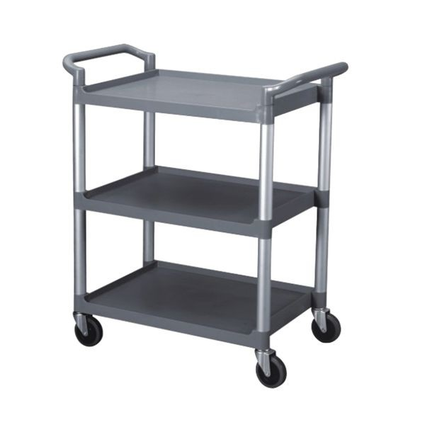 Thunder Group PLBC3316G Gray 3-Tier Bus Cart