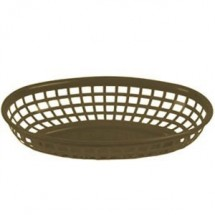 "Thunder Group PLBK938 Oval Polypropylene Fast Food Basket 9-3/8"" - 1 doz"
