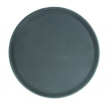 Thunder Group PLFT1100BK Black Round Fiberglass Tray 11""