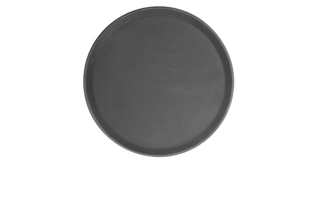 Thunder Group PLFT1100BR Brown Round Fiberglass Tray 11""