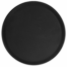 Thunder Group PLFT1400BK Black Round Fiberglass Tray 14""
