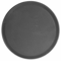 Thunder Group PLFT1400BR Brown Round Fiberglass Tray 14""